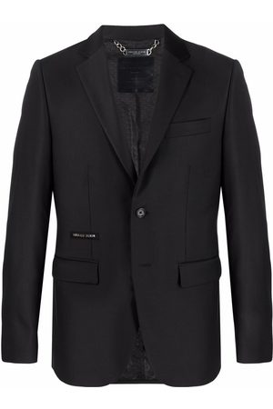 Philipp Plein Crystal Skull single-breasted blazer