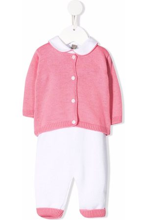 LITTLE BEAR Purl-knit contrast tracksuit set