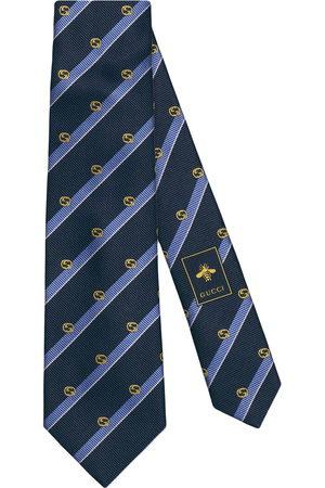 Gucci Striped GG silk tie