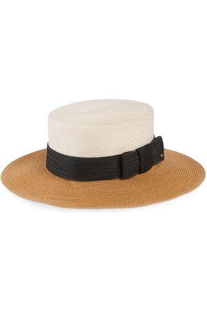 Gucci Men Hats - Wide-brim straw-effect hat