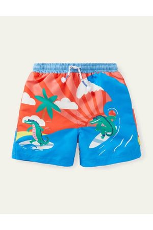 Boden Mini Printed Bathers Boys Boden