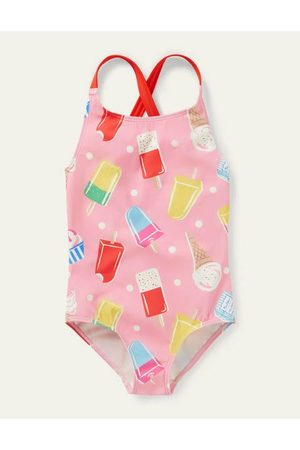 Boden Mini Cross-back Printed Swimsuit Girls Boden