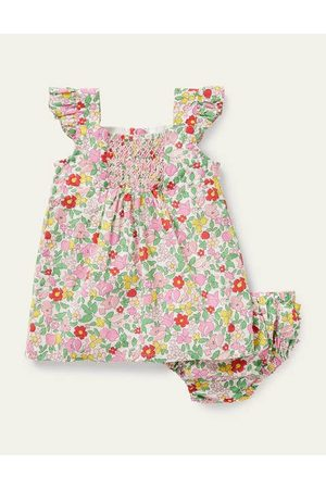 Cubus Baby Printed Dresses - Floral Smocked Dress Boden