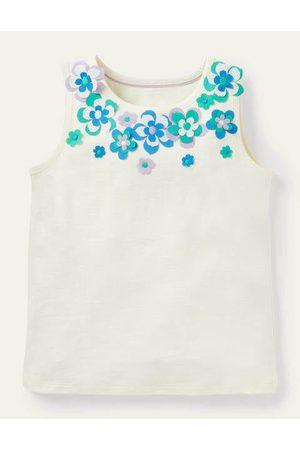 Boden Mini Flutter Flower Vest Girls Boden