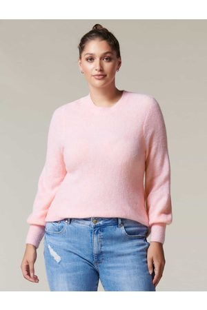 Forever New Women Sweaters - Cathleen Curve Brushed Knit Jumper