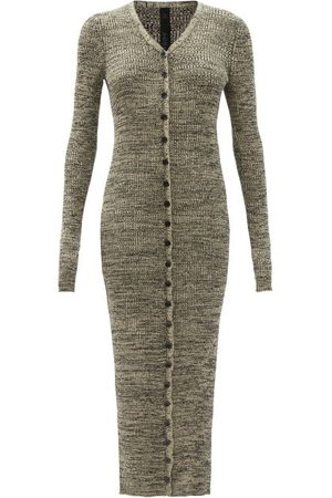 PETAR PETROV Erica Ribbed Silk Cardigan Dress - Womens