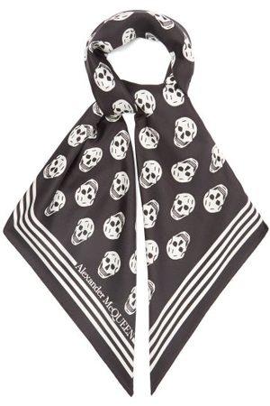 Alexander McQueen Skull-print Silk-twill Scarf - Womens