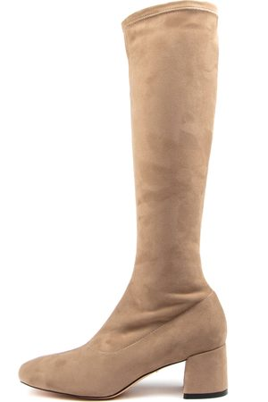 DIANA FERRARI Women Knee High Boots - Cyrics Df Taupe Boots Womens Shoes Casual Long Boots