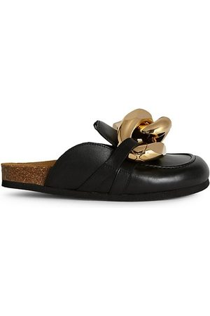 J.W.Anderson Chain Leather Loafer Mules