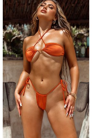 PRETTYLITTLETHING Tie Back Adjustable Mini Bikini Top
