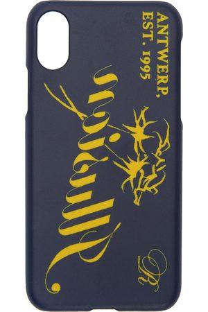 Raf Simons Men Phone Cases - Navy 'Illusion' iPhone X Case