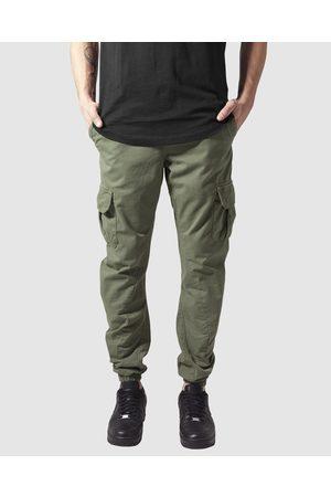 Urban classics Men Cargo Pants - UC Cuffed Cargo Jogging Pants - Cargo Pants (Olive) UC Cuffed Cargo Jogging Pants
