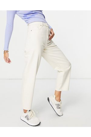 & OTHER STORIES Women Tapered - & Major organic cotton high-waist tapered leg jeans in ecru-Neutral