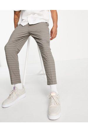 ASOS Formal Pants - Tapered smart pants in horizontal pinstripe-Green