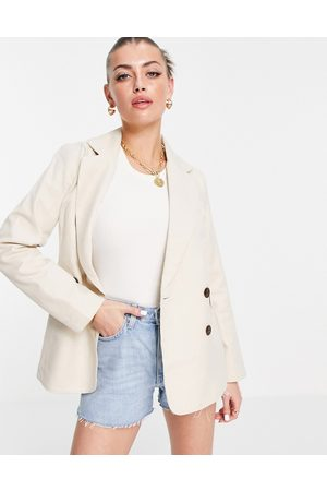 People Tree Relaxed tailored blazer co-ord-Neutral