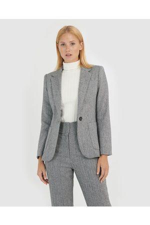 Forcast Women Blazers - Selah Herringbone Blazer - Suits & Blazers Selah Herringbone Blazer