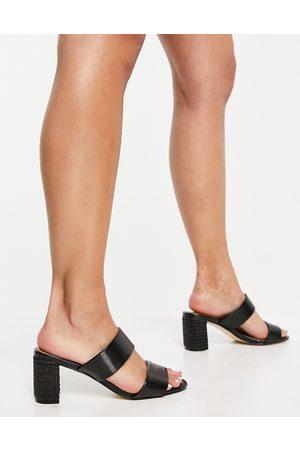 Dune Women Heels - Jessy block heel mules in black