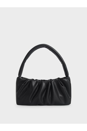 CHARLES & KEITH Ruched Top Handle Bag