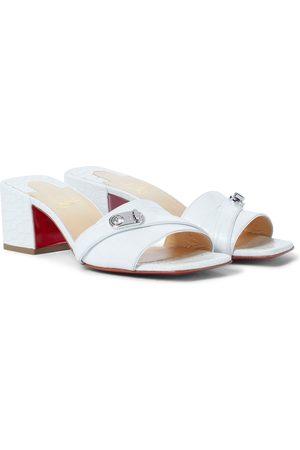 Christian Louboutin Women Heels - Lock Art 55 leather sandals