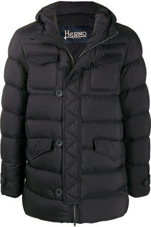 HERNO Men Winter Jackets - Puffer jacket with button detail