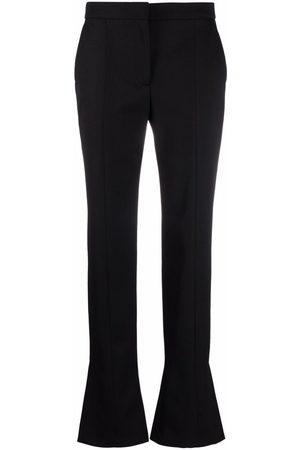 Alexander McQueen Ankle-slit cigarette trousers