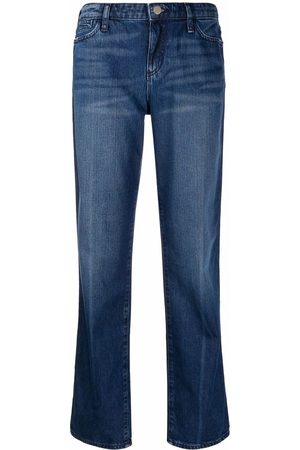 Emporio Armani Women Bootcut & Flares - J15 relaxed-fit worn-wash jeans