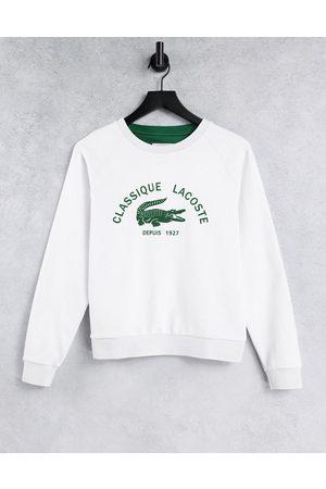 Lacoste Classic logo sweatshirt in white