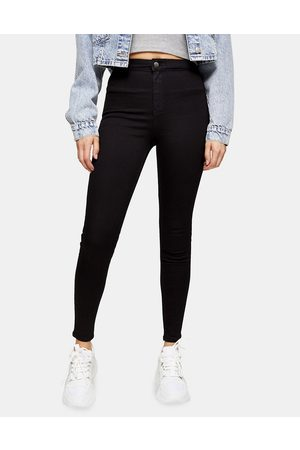 Topshop Holding power Joni jeans in black