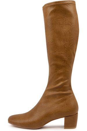 Django & Juliette Hayleys Tan Boots Womens Shoes Casual Long Boots