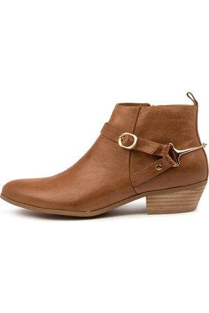 Django & Juliette Women Ankle Boots - Calie Dj Tan Boots Womens Shoes Casual Ankle Boots