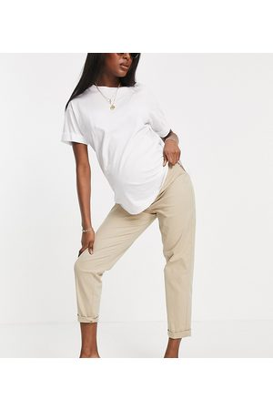 ASOS Maternity ASOS DESIGN Maternity chino pants in stone with under the bump band-Neutral