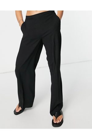 SELECTED Femme wide leg pants in black