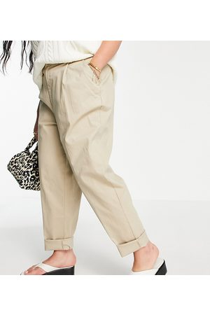 ASOS Curve ASOS DESIGN Curve hourglass chino pants in stone-Neutral