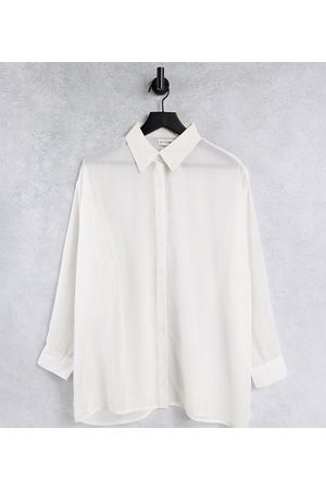 Native Youth Oversized sheer shirt-White