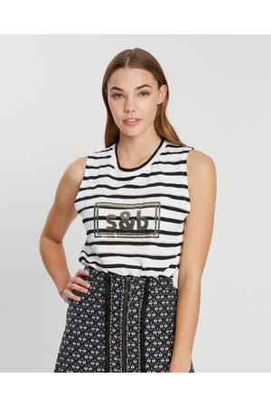Sass & Bide Women Tank Tops - Goddess in Charge Tank - T-Shirts & Singlets (Stripe) Goddess in Charge Tank