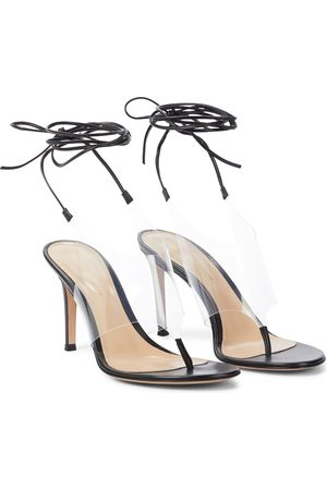 Gianvito Rossi Nerea leather and PVC thong sandals
