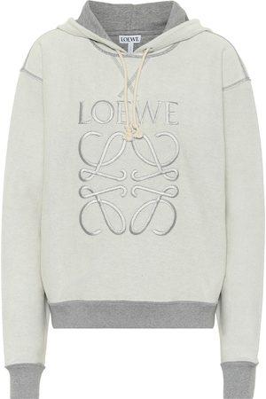 Loewe Women Hoodies - Anagram reversible cotton hoodie