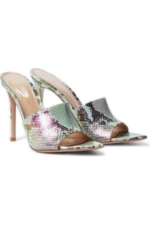 Gianvito Rossi Women Heeled Sandals - Alise 105 snake-effect leather sandals