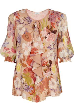Etro Women Blouses - Floral silk georgette blouse