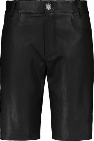 Stouls Women Bermudas - Sofiane leather Bermuda shorts