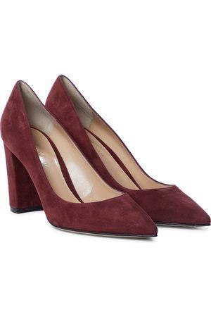 Gianvito Rossi Women Heels - Piper 85 suede pumps