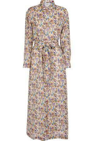 Etro Women Maxi Dresses - Floral ramie maxi shirt dress