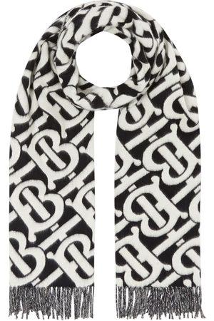 Burberry Scarves - Monogram cashmere jacquard scarf