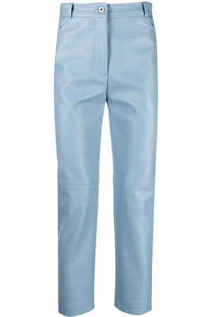 Stella McCartney Faux-leather straight-leg trousers