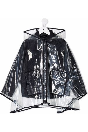 Emporio Armani Raincoats - Layered hooded raincoat