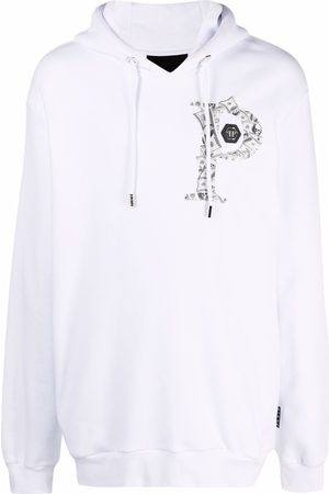 Philipp Plein Men Hoodies - Money logo-print hoodie