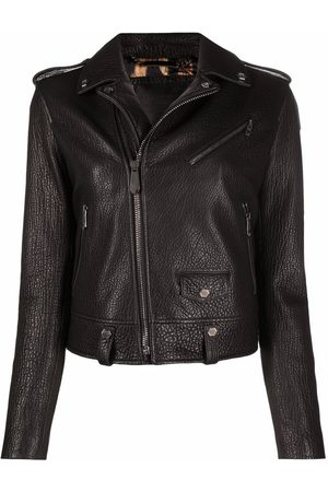 Philipp Plein Women Leather Jackets - Iconic leather biker jacket