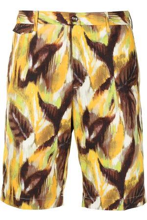 PT01 Men Bermudas - Painterly-print bermuda shorts