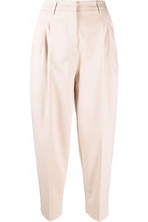 BLANCA Women Formal Pants - High-waisted cropped trousers