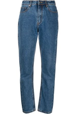 12 STOREEZ Women Boyfriend - High-rise straight leg jeans